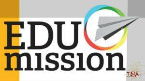 Logomarca do Edumission e, ao lado e menor, a logomarca da Teia Multicultural